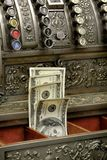 Old fiscal cash office with money Stock Images