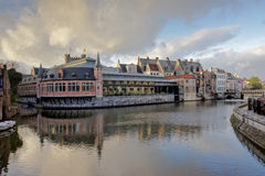 Old fish market of Ghent royalty free stock photos