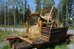 An old fish wheel in alaska. Royalty Free Stock Photography