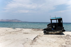 Old Fisherman boat at the bay  kos island ,greece Royalty Free Stock Images