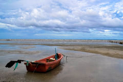 Old fisherman boat at the coast,Thailand Stock Image