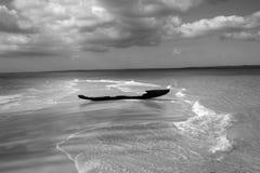 Old fisherman boat at sand bank Royalty Free Stock Image