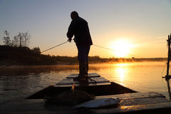 The old fisherman Royalty Free Stock Images