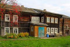 Old fisherman house in North of Russia. Pomors, White sea Stock Image