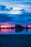 Old fisherman hut in twilight time. Royalty Free Stock Image