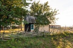 Old fisherman huts in Kovik near Katthammarsvik Gotland. Old historic limestone fisherman huts cottage in Kovik in Gotland near Katthammarsvik Royalty Free Stock Photography