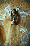 Old fisherman lantern. Old fashioned lantern with fisherman web royalty free stock photos