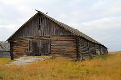 Old fisherman's shed in North of Russia. Pomors, White sea Stock Images