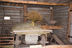 Old fisherman's shed in Russia. Pomors chopped house Stock Image