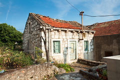 Old fisherman typical house in village Maranovici Royalty Free Stock Images