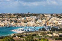 Old fisherman village of Marsaxlokk, Malta.  Royalty Free Stock Photos