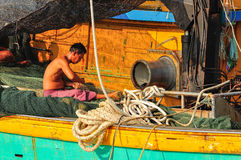 An old fishermen Stock Photos