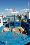 Old fishermen's boat Stock Photo