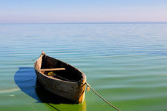 Old fishing boat. Floating on the water Royalty Free Stock Photo