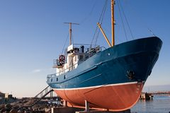 Old fishing boat. Docked on postmen Royalty Free Stock Images