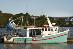 Old fishing boat. stock photography