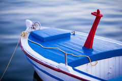 Old Fishing Boat. Old Fishing Boat Anchored in Croatia Stock Photo