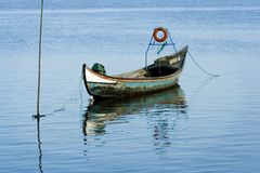 Old fishing boat stock image