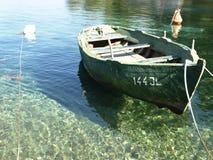 Old fishing boat. Antique fishing boat, Island of Hvar, Dalmatia, Croatia stock image