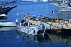 Old Fishing Boat. S at dock stock image