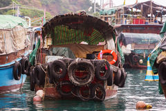 Old fishing boat in Aberdeen, Hong Kong Stock Image
