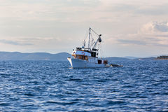 Old fishing boat in Adriatic sea Royalty Free Stock Images