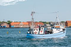 Old fishing boat at Amaliehaven in Copenhagen. Denmark Stock Photo