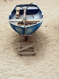 Old fishing boat with anchor Playa Las Canteras beach Las Palmas Stock Photo