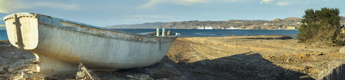 Old Fishing Boat . Aqaba Gulf, Eilat Stock Images