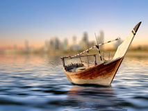Old Fishing Boat. On an Arabian ocean Royalty Free Stock Photos