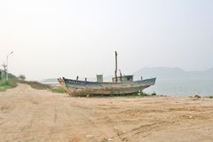 Old fishing boat. Stock Photos