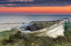 Old fishing boat  at the Baltic sea Stock Image