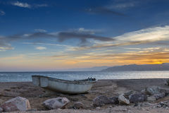 Old fishing boat at a beach of the Red Sea Royalty Free Stock Photo