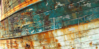 Old fishing boat, Camaret. Royalty Free Stock Photo