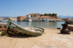 Old fishing boat. Chania, Crete, Greece Royalty Free Stock Photos