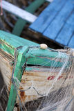 Old fishing boat. Equipment from the old fishing boat Stock Images