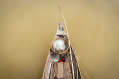Old Fishing Boat and equipment. Top view of an old fishing boat and equipment in vietnam Royalty Free Stock Images