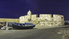 Old Fishing Boat in Essaouira Morroco Fishing Harbor royalty free stock photo