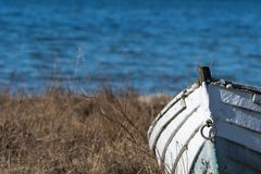 Free Old Fishing Boat Front View Royalty Free Stock Photography - 140718497