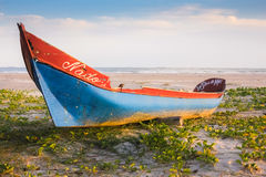 Old Fishing Boat. On Honey Island Stock Photo