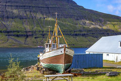 Old fishing boat in Iceland Stock Photos