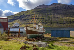 Old fishing boat in Iceland2 Royalty Free Stock Photos
