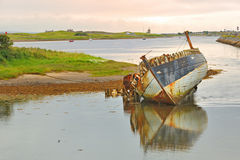Old fishing boat in ireland Stock Images