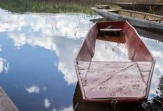 Old fishing boat on lake shore Royalty Free Stock Photography