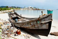 Old fishing boat Malaysia. Royalty Free Stock Photography