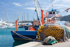 Old fishing boat in the port Stock Image