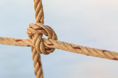 Old fishing boat rope Royalty Free Stock Images