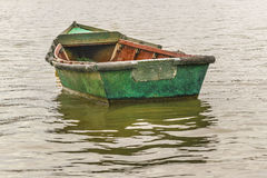 Old Fishing Boat at Santa Lucia River in Montevideo Royalty Free Stock Photos