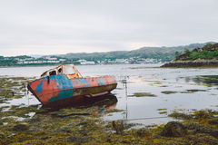 Old Fishing Boat, Scotland Stock Photography