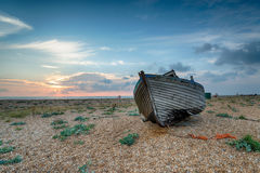 Old Fishing Boat at Sunrise Stock Photography